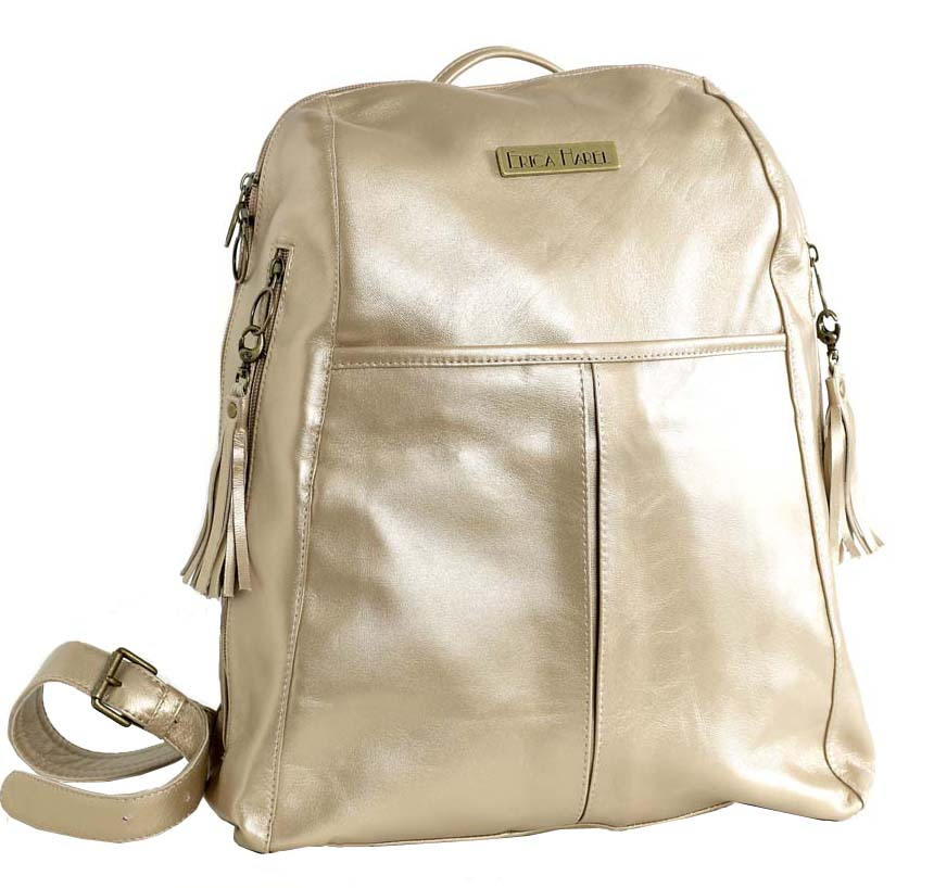 Pearl leather backpack