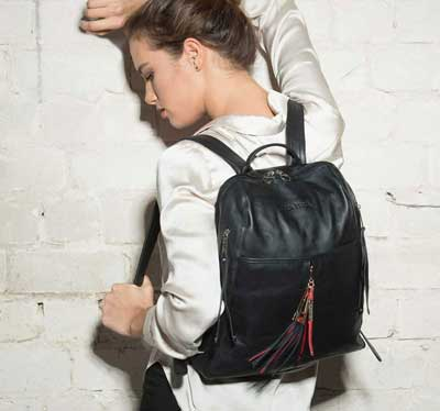 womens leather backpacks