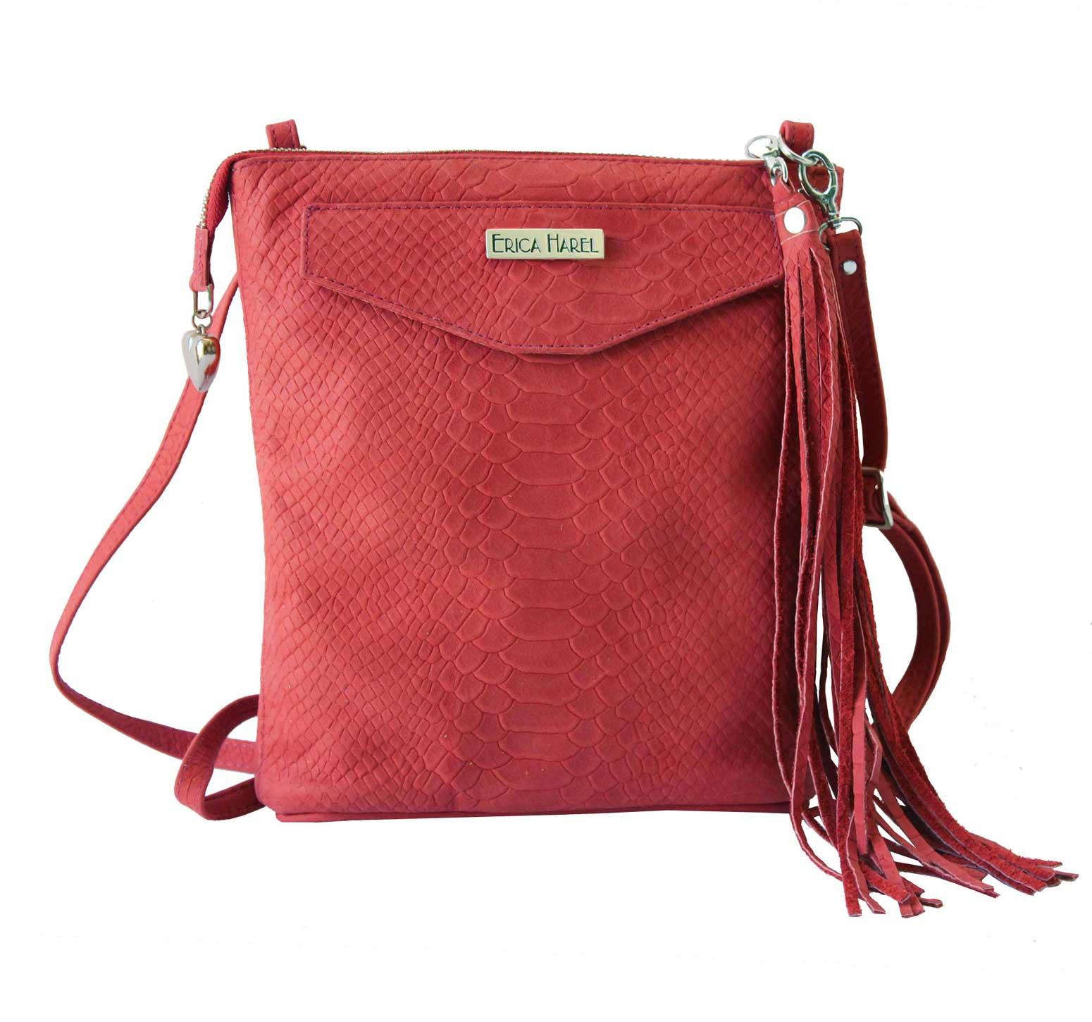 red leather mini crossbody