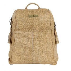 tan stingray leather backpack