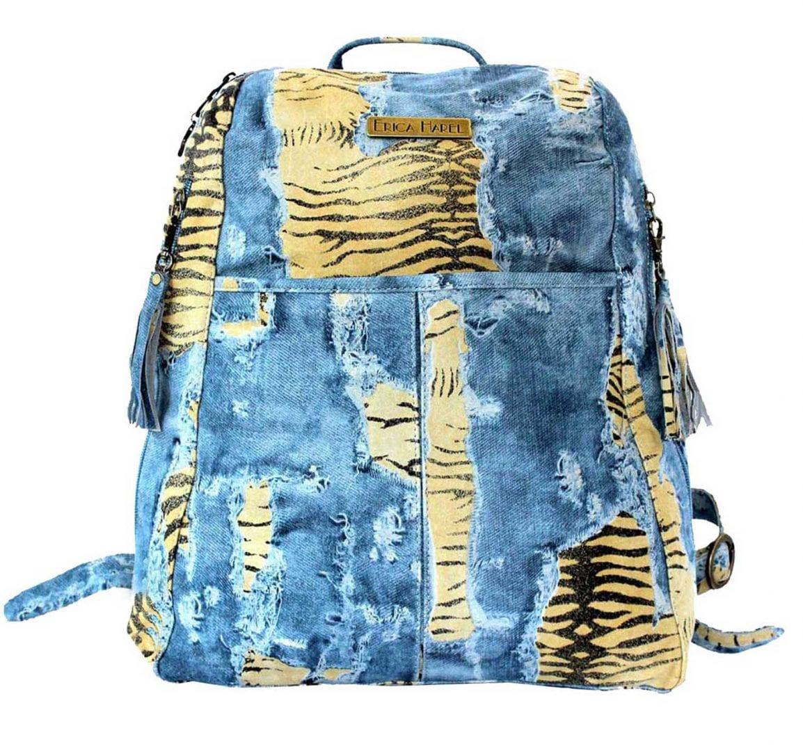 distressed jeans designer leather backpack