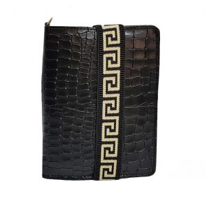 Black Leather Passport Holder