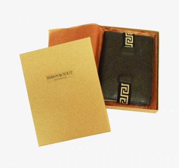 Black Leather Passport Case
