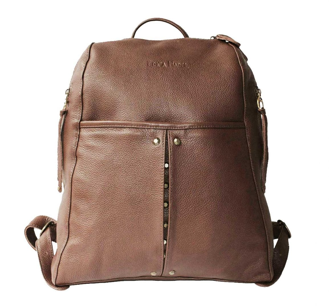 Brown Leather Backpack - Designer Backpack for Men and Women