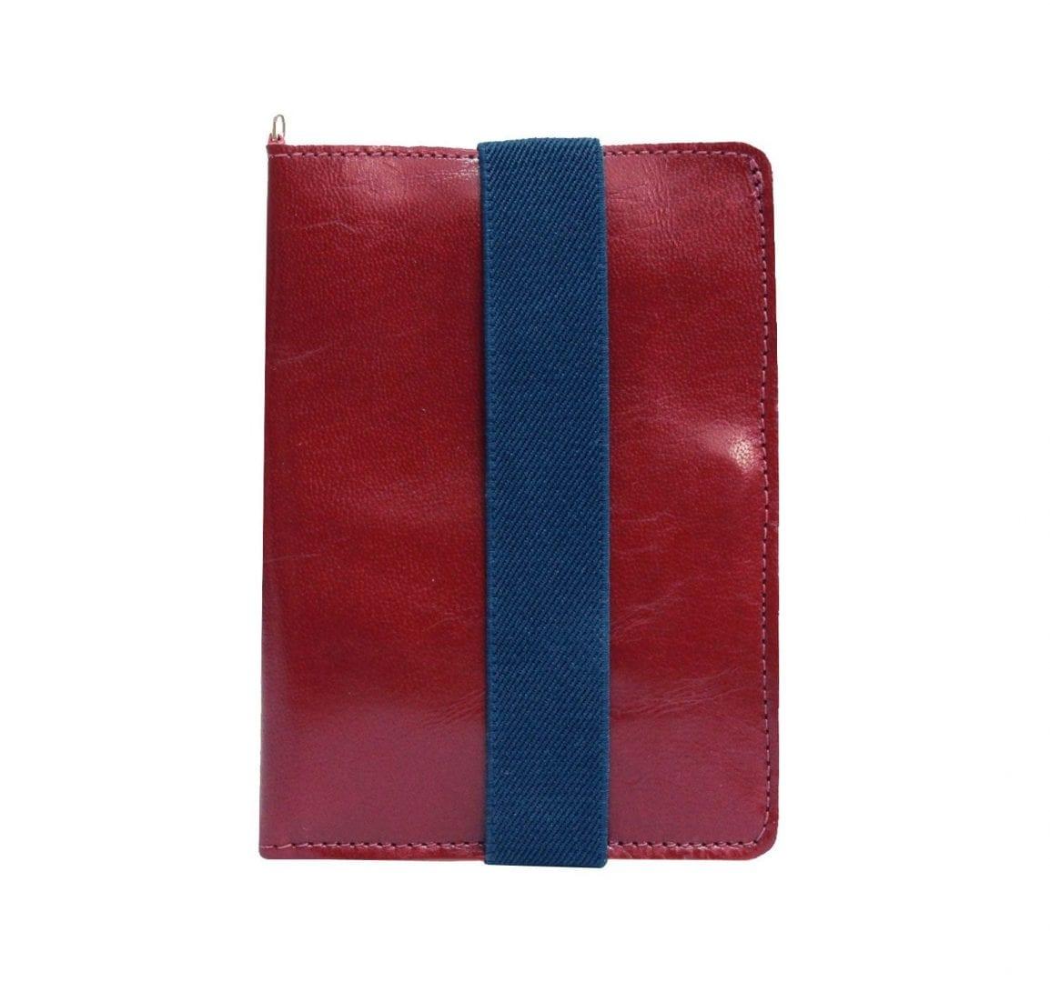 burgundy leather passport case