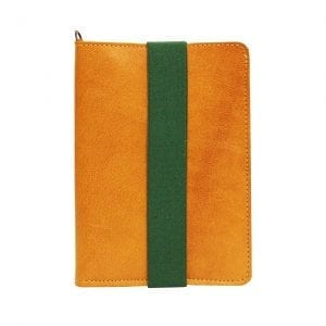 camel leather passport case