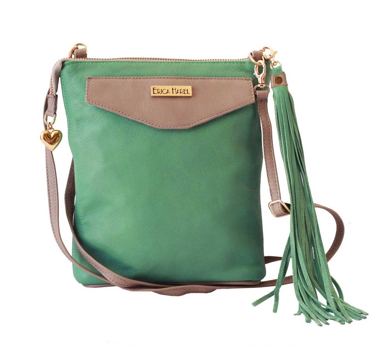 mint green leather mini crossbody