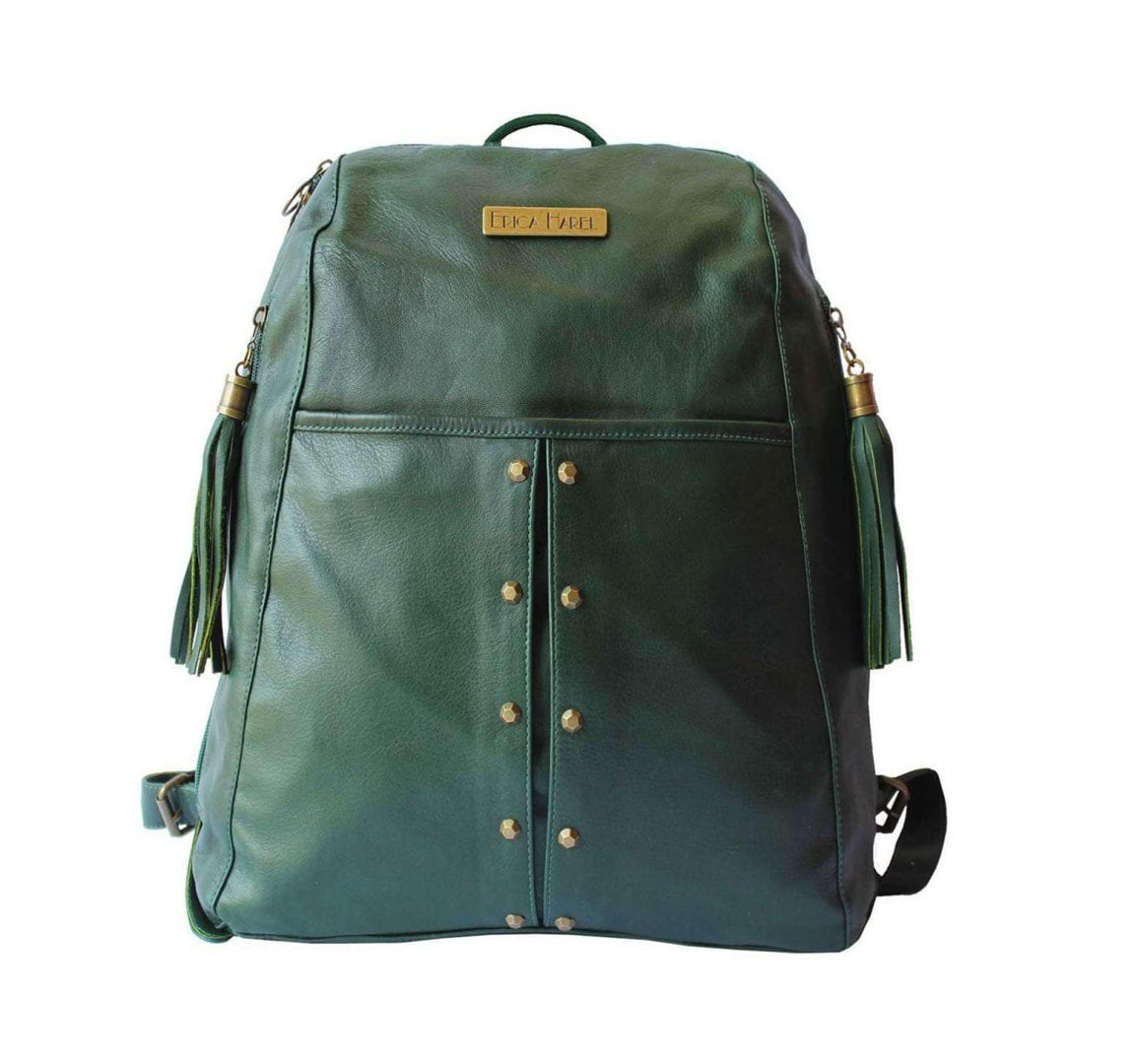 Green Leather Backpack | Soft Leather Backpack