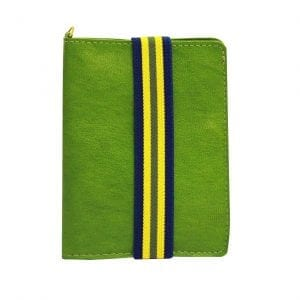Green Leather Passport Case