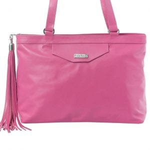 Hot Pink Leather Tote