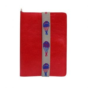 red leather passport case