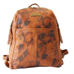 soft camel leather backpack