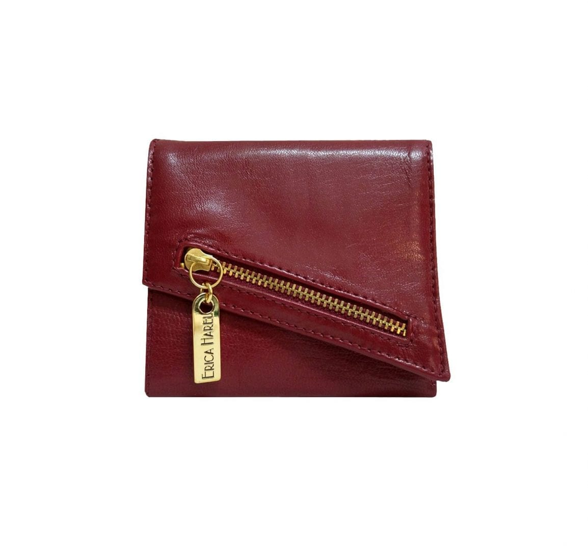burgundy leather wallet