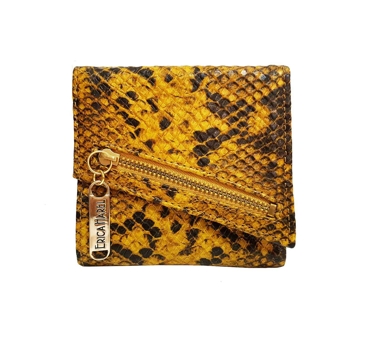 snakeskin leather womens wallet