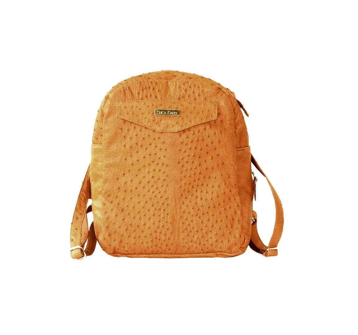 yellow ostrich mini backpack
