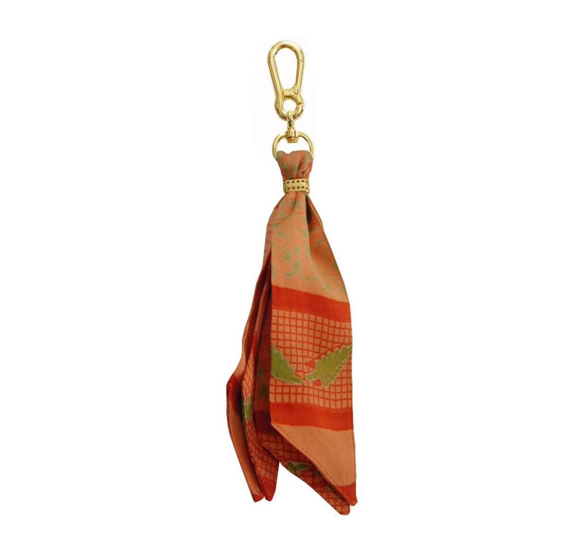 orange silk purse charm