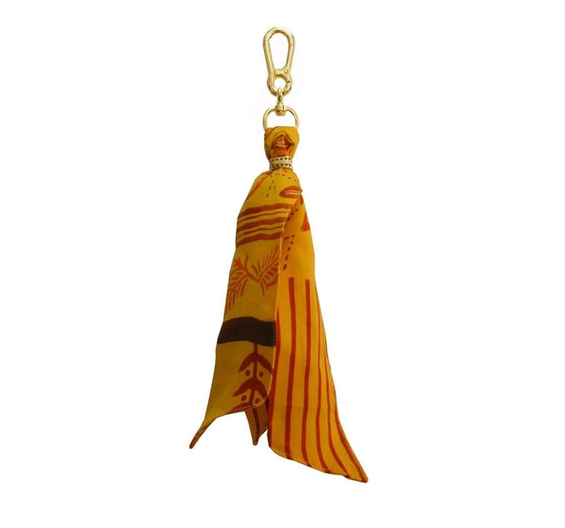 ochre silk purse charm