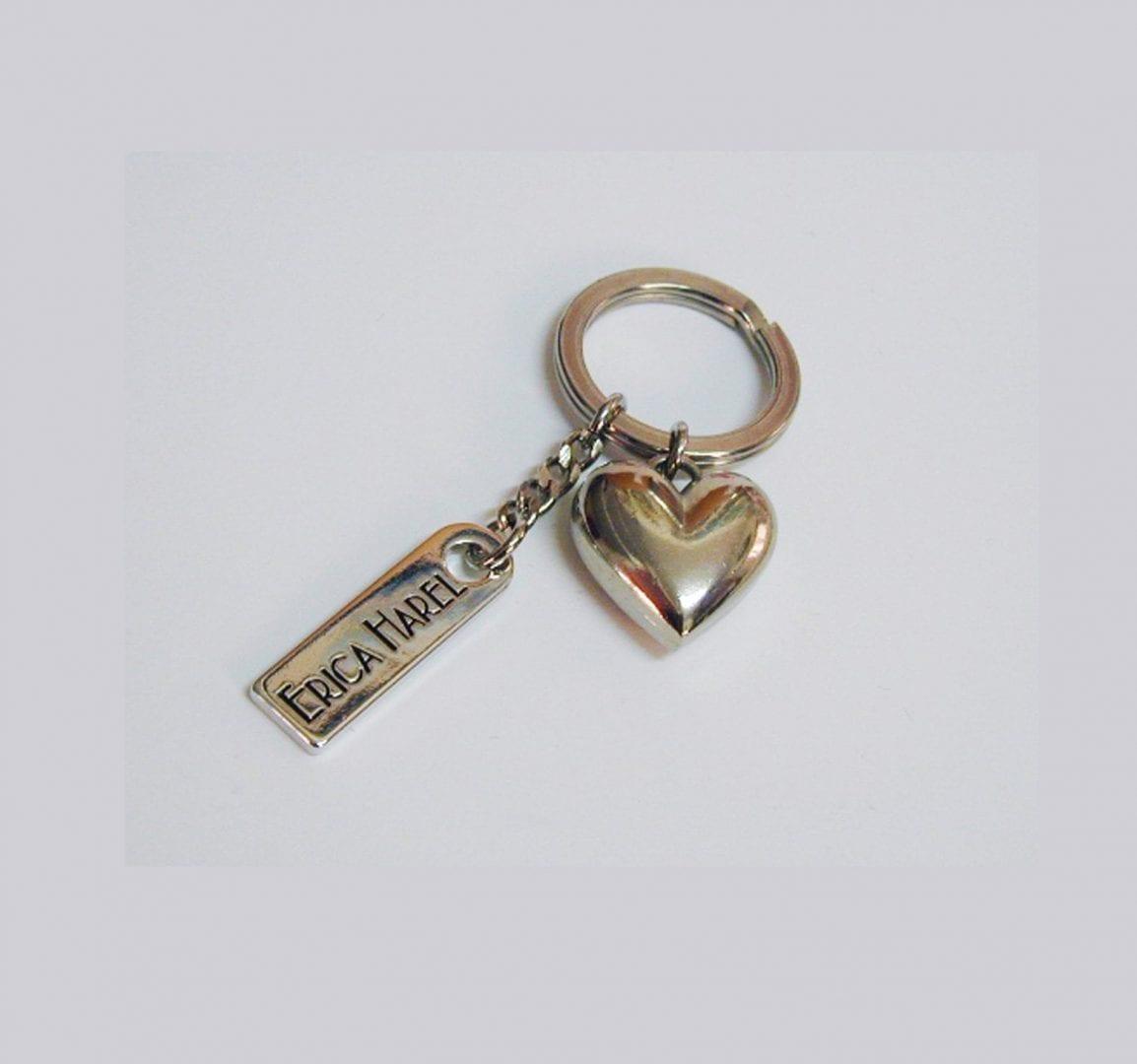 big heart designer key ring