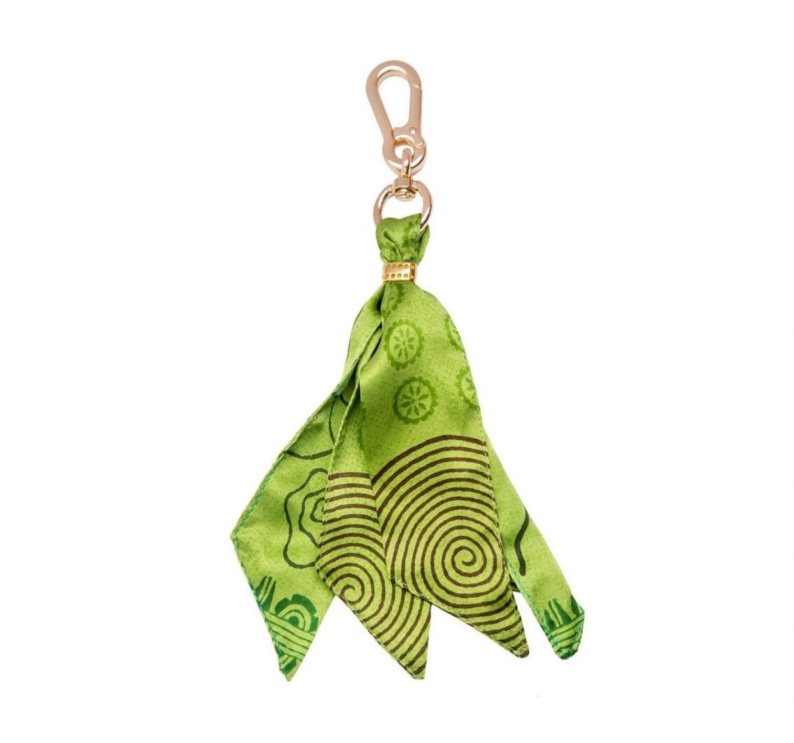 green silk purse charm