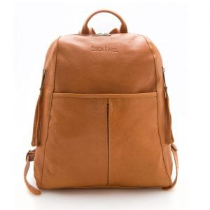 mens camel leather backpack