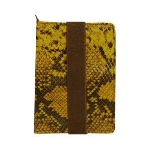 Ochre Snake Leather Passport Case