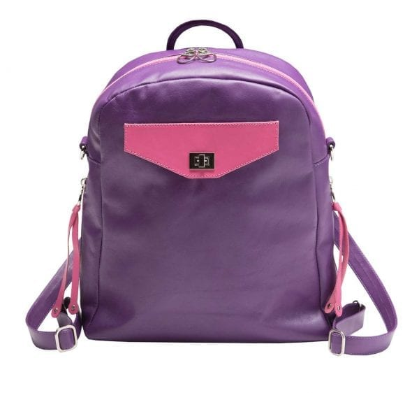 Small Purple leather backpack