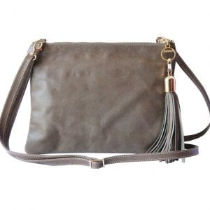 taupe leather mini bag