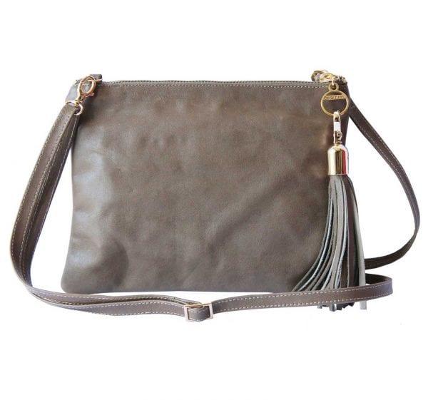 taupe leather mini bag
