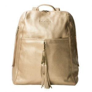 Gold Leather Backpack