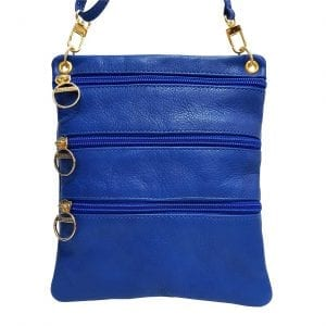 Blue Leather Mini Bag