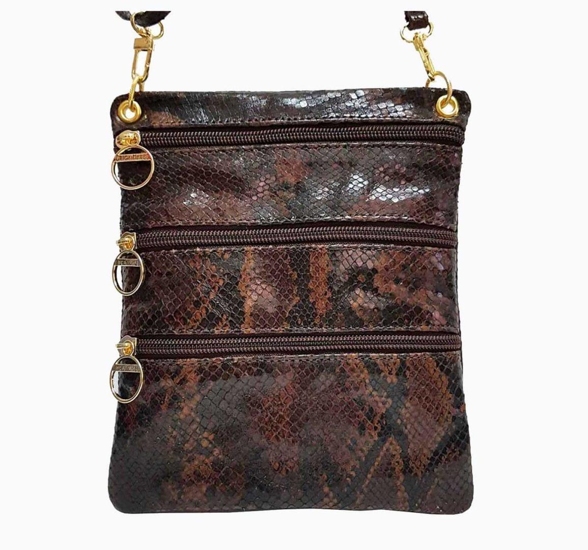 snakeskin leather sidekick mini bag