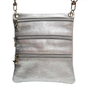 Silver Leather SIDEKICK Mini Bag