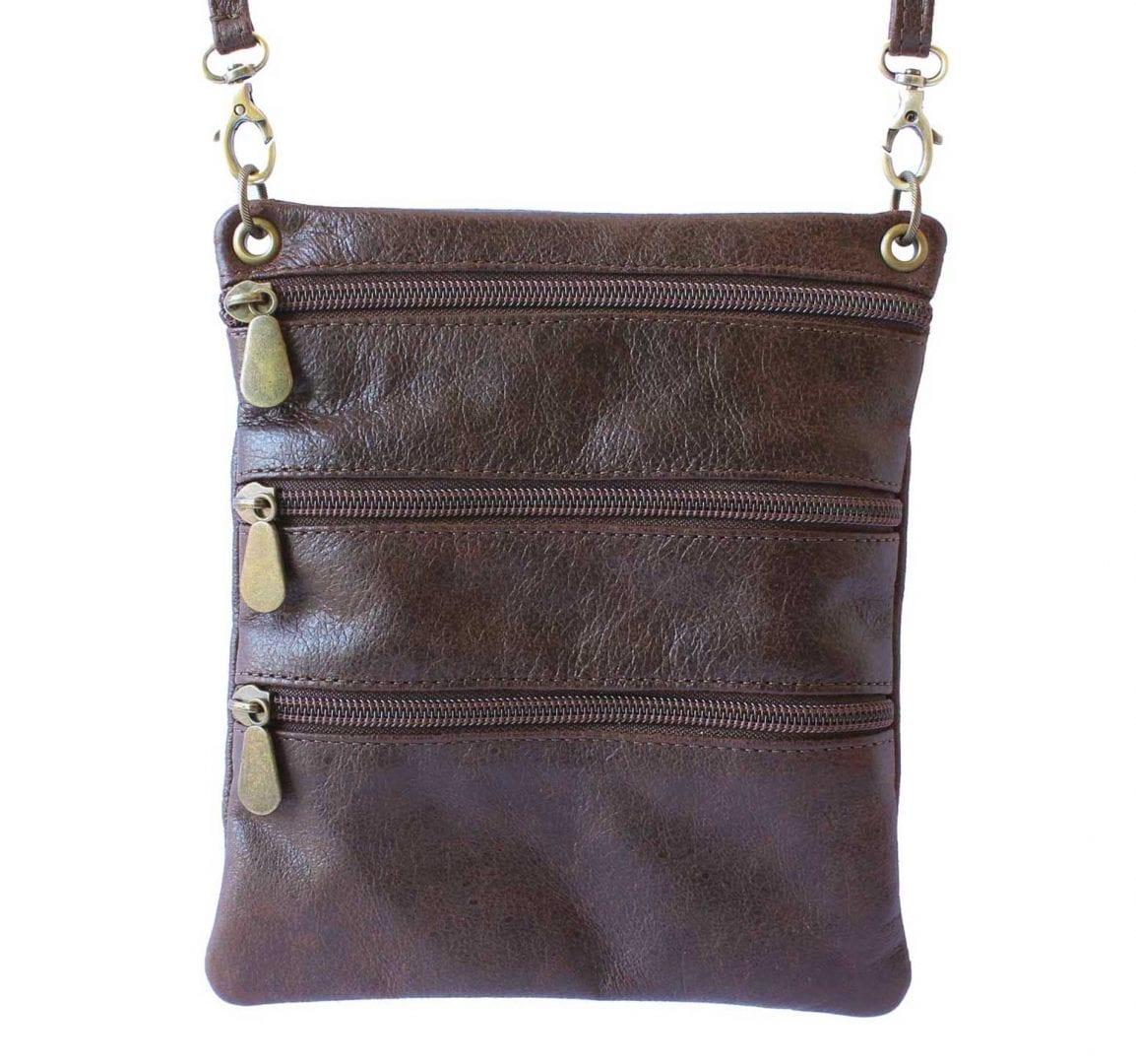 brown leather sidekick mini bag