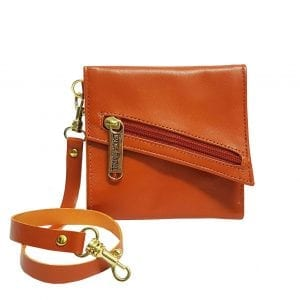 Orange Leather Wallet