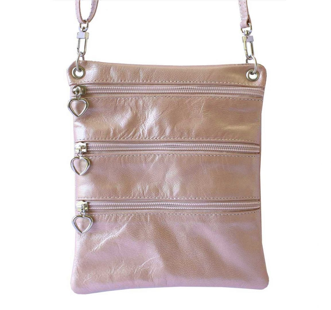pink leather sidekick mini bag