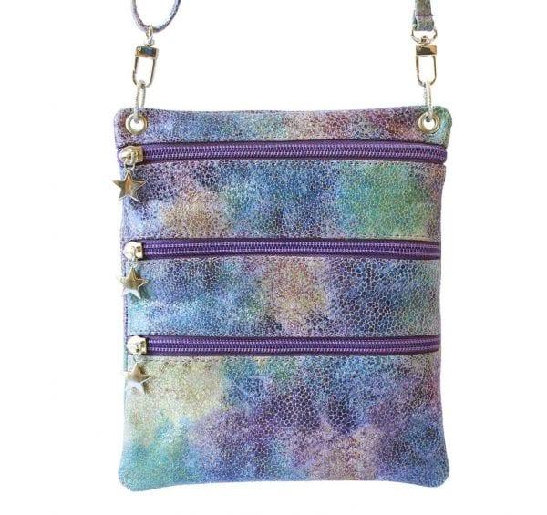 purple leather sidekick mini bag