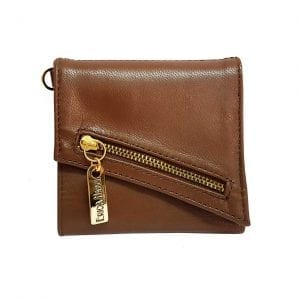 brown leather womens wallet