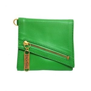 green leather womens wallet