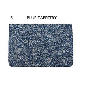 דשים לתיקי צד ״ברוקלין״ – 5 Blue Tapestry