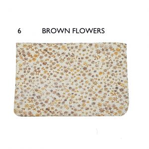 Flaps – 6 Brown Flowers