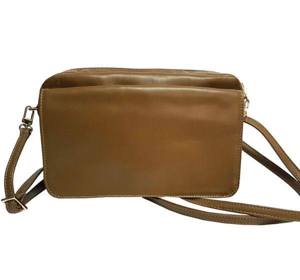 Brown Leather Crossbody Camera Bag