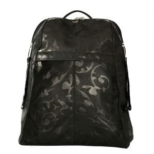 Manhattan Black Leather Women's Backpack