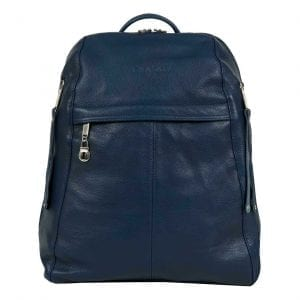 Manhattan Man Navy Blue Leather Backpack