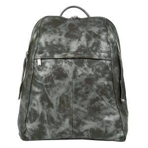 Manhattan Man Camouflage Leather Backpack
