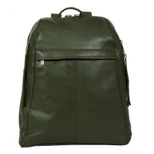 Manhattan Olive Green Leather Women's Backpack