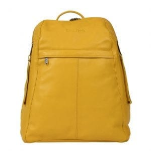 Manhattan Yellow Leather Women's Backpack