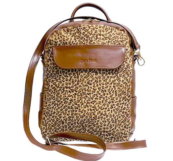 59287ef68e9 Brown Leather Mini Backpack Crossbody