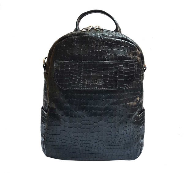 black leather mini backpack crossbody