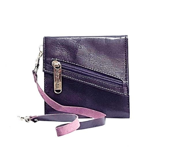 purple leather womens wallet