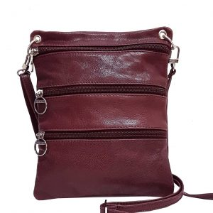 Burgundy Leather Travel Pouch